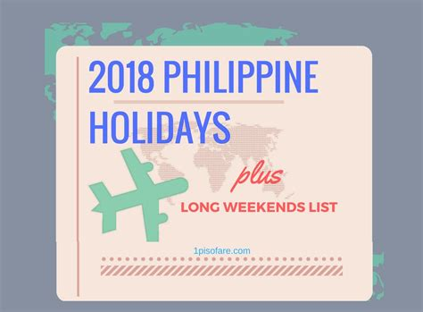Calendar 2018 Holidays Philippines List 2018 Philippine Holidays And Weekends