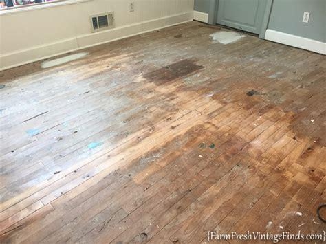 painting wood floors painting a hardwood floor farm fresh vintage finds