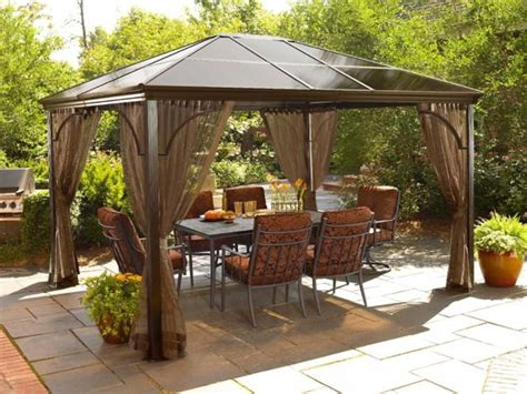 contemporary gazebo logan gazebo with netting contemporary gazebos by sears