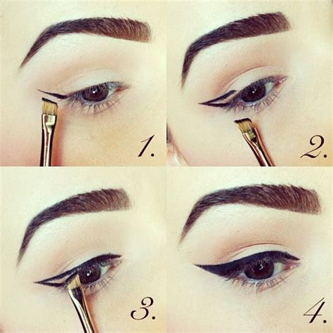 eyeliner tutorial gel liner how to apply winged gel eyeliner with a brush written
