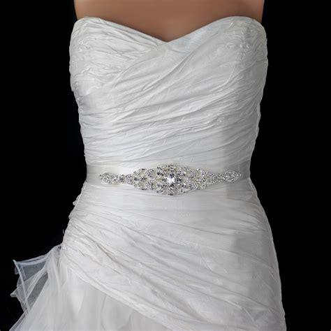 ivory or white silver rhinestone bridal