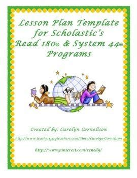 read 180 lesson plan template reading intervention program lesson plan template