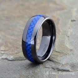 custom mens wedding bands ceramic wedding band mens ring mens wedding bands custom made rings blue carbon fiber 8mm