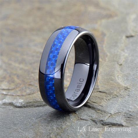 Custom Made Wedding Rings by Ceramic Wedding Band Mens Ring Mens Wedding Bands