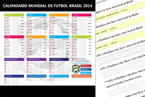 Calendario Eliminatorias Rusia 2018 Pdf Calendario Mundial Brasil 2014 Pdf