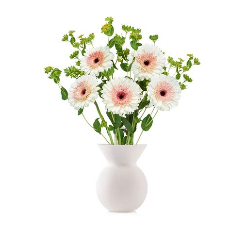 White Vase With Flowers by Lilly Fleur Silicon Design Vase With Flowers White Delivery In Germany By Giftsforeurope