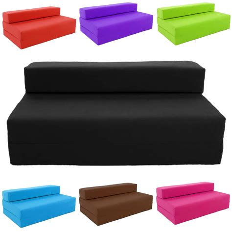 Foam Futon Block Filled Fold Up Sofa Bed Z Guest Foam Futon Mattress