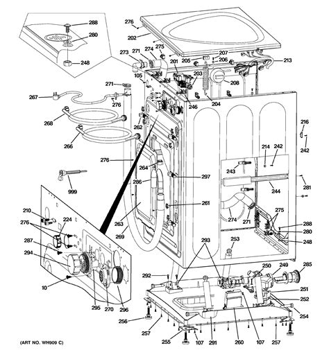 ge washer parts diagram diagram parts list for model wpdh8800j2mg searspartsdirect