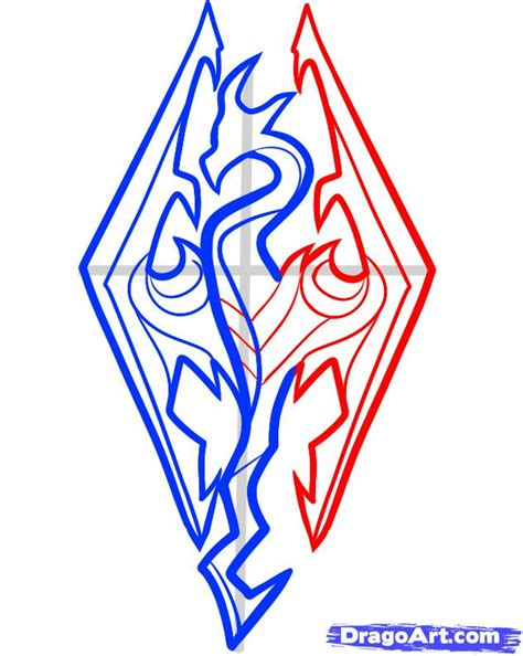 tutorial logo pop how to draw skyrim skyrim logo step by step video game