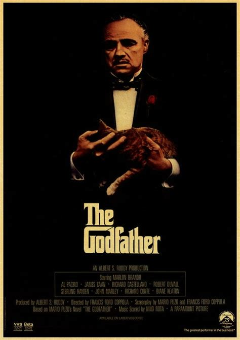 vintage usa  godfather poster retro poster painting