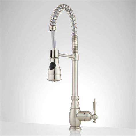 spring pull down kitchen faucet signature hardware garter single hole pull down kitchen