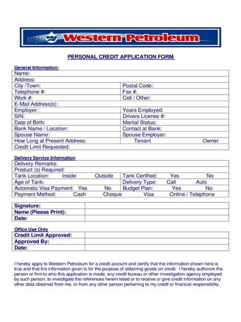 credit application with personal guarantee template edit fill