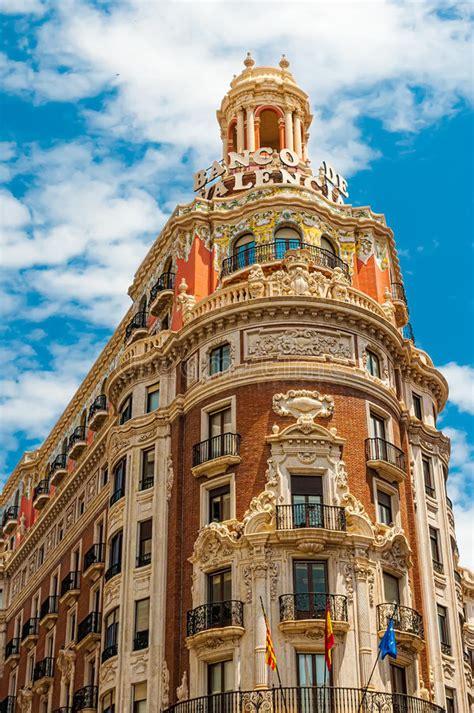 bank spanien historische geb 228 ude bank valencia in der alten stadt