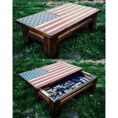 wood american flag gun cabinet american flag coffee table hidden gun case house ideas