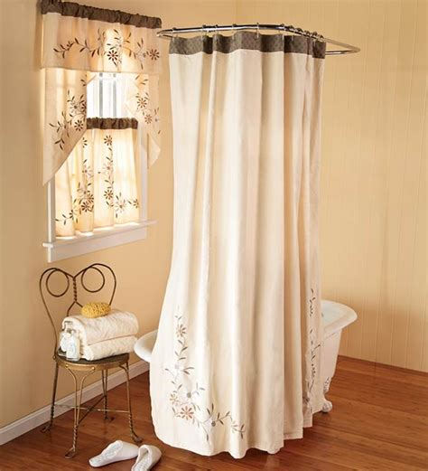 Curtain Bathroom Window And Shower Curtain Sets