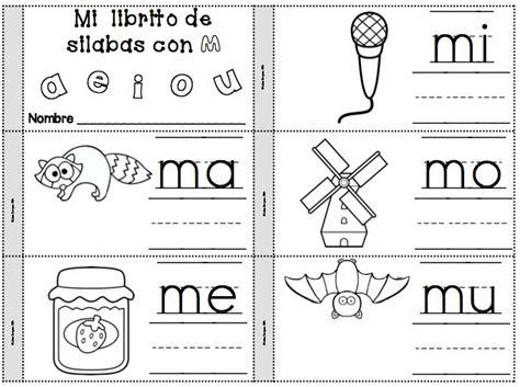 palabra pattern en espanol mi librito para la letra m mi librito de silabas con m