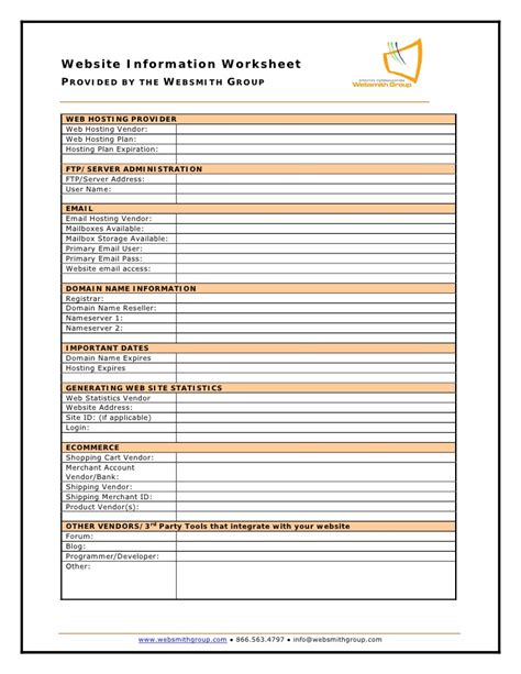 Worksheet Site by Printables Website Planning Worksheet Happywheelsfreak