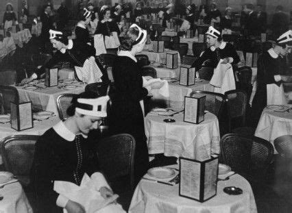 Lyons Tea Rooms by Lyons Nippy Waitresses At Work In A Lyons Tea Room