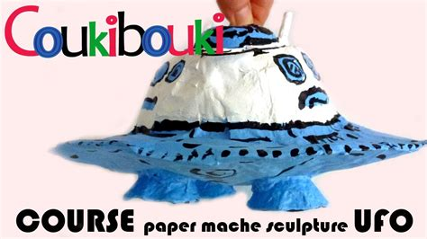 How To Make A Paper Ufo - paper mache ufo artistic activity for children craft
