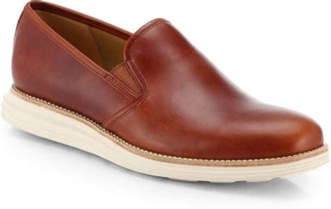 cole haan two tone loafer cole haan lunargrand two tone leather slip on loafers in