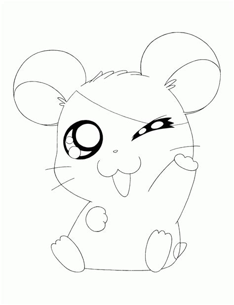 printable coloring pages cute animals hamtaro cute animals coloring pages