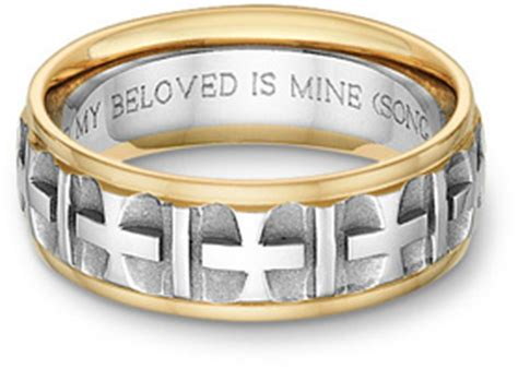 Wedding Band Bible Verses by Two Tone Wedding Bands For Applesofgold