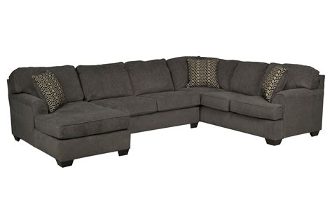 3 piece chaise sectional loric smoke 3 piece sectional w laf chaise living spaces