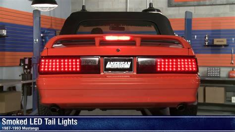 91 mustang lights mustang smoked led lights 87 93 all review