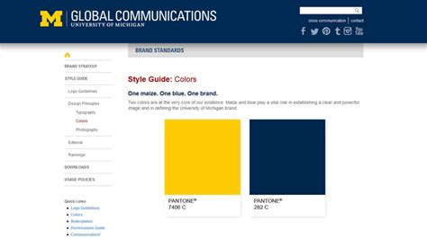 michigan colors design the best handbook for your brand