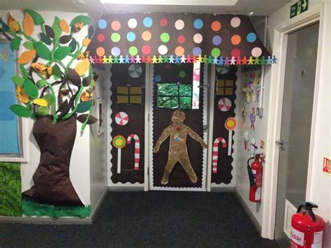 gingrbread house on school door my gingerbread house themed reception classroom door inspired by others found on