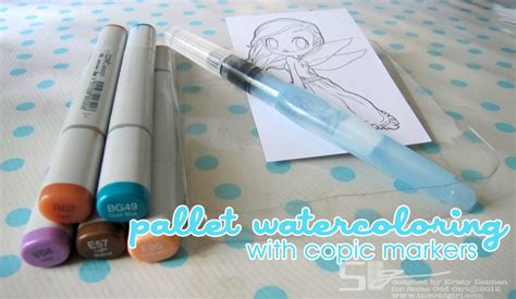 Watercolor Markers Tutorial | quot watercoloring quot with copic markers some odd girl blog