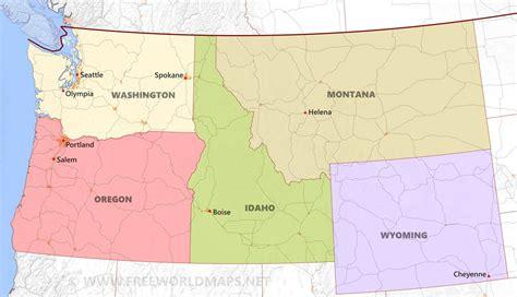 map us northwest northwestern us maps