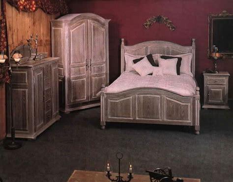 meubles bois massif chene chambre a coucher lit chevet