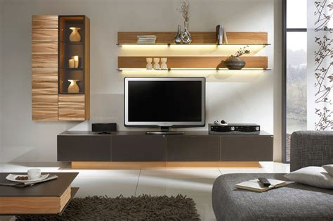Awesome White Brown Wood Glass Cool Design Contemporary Tv Television Tables Living Room Furniture