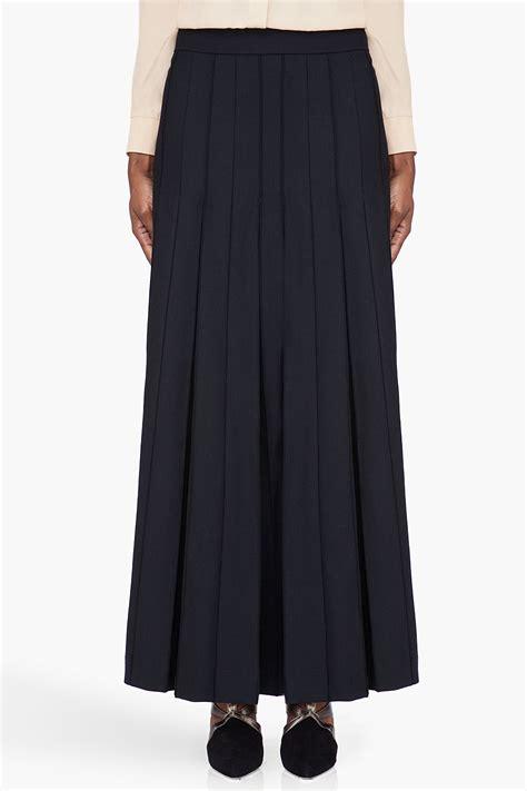 marni black wool pleated skirt in black lyst