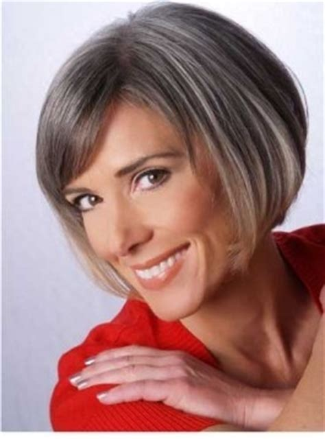 going gray gracefully from brunette bangs purple and awesome on pinterest