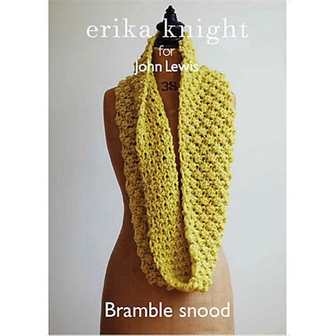 knitting pattern john lewis buy erika knight for john lewis adult snood knitting
