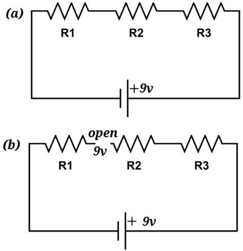 resistor in parallel with open circuit resistors in series electronics tutorials