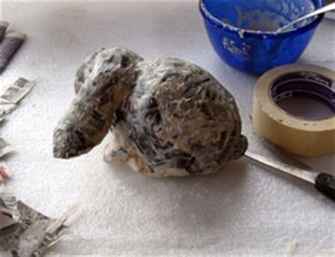 How To Make A Paper Mache Rabbit - how to make a paper mache bunny sculpture ultimate paper