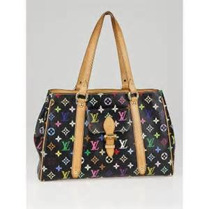 louis vuitton black monogram multicolor aurelia mm bag