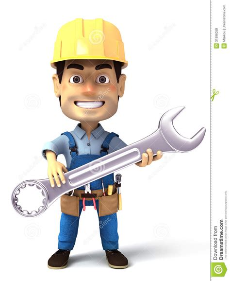 7 Handyman That I Should by Handyman Holding Wrench Tool Stock Illustration