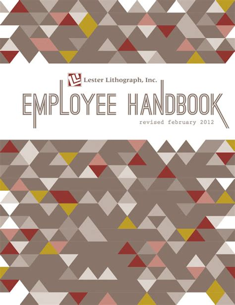 cover design handbook heather l myers graphic design employee handbook cover