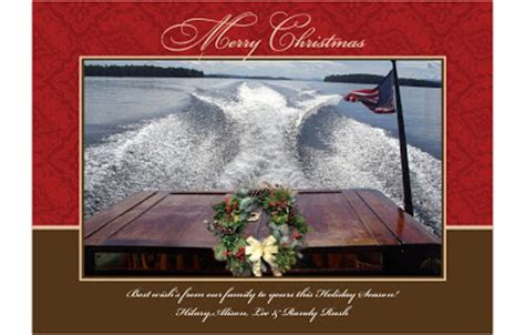 merry christmas hanukkah kwanzaa    send   images classic boats woody boater