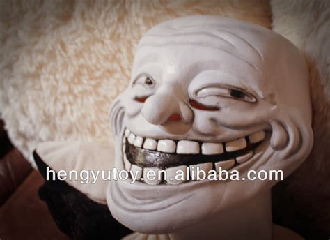 Troll Meme Mask - trollface party the cosplay carnival latex meme troll