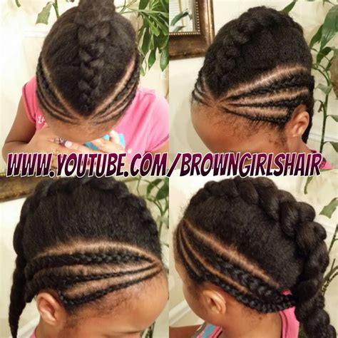 quick cornrows and braids brown girls hair 2 quick cornrow styles