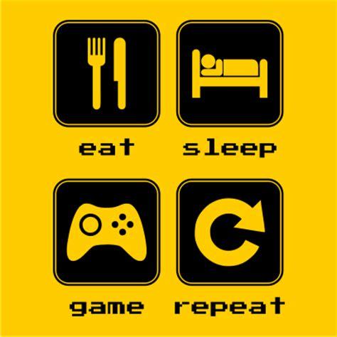 Eat Sleep Game Repeat 2   JuiceBubble T Shirts