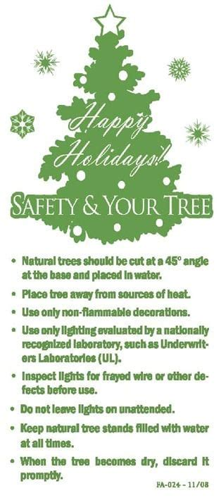 free christmas tree safety tips candle and tree safety outreach materials