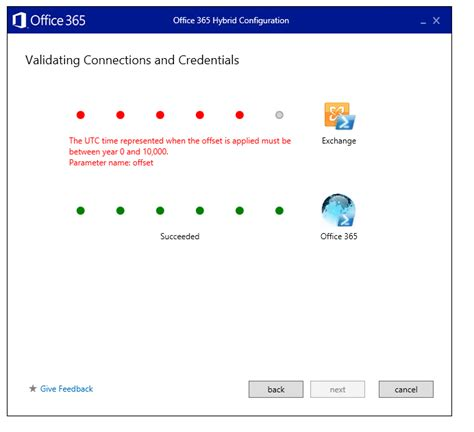 Office 365 Hybrid Configuration Wizard Office 365 Hybrid Configuration Wizard Fails Due To