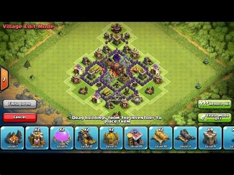 layout hybrid coc th5 clash of clans best epic new th5 hybrid base design youtube
