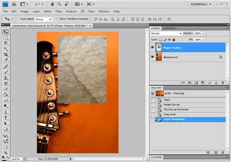 add pattern to image photoshop photoshop tutorial add texture to flat image one life